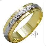 Snubní prsteny LSP 2024k kombinované zlato