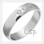 Snubní prsteny LSP 2025 bílé zlato