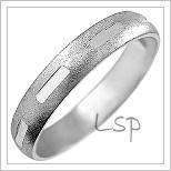 Snubní prsteny LSP 2026b bílé zlato