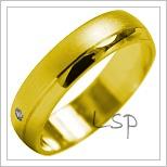 Snubní prsteny LSP 2027 žluté zlato