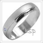 Snubní prsteny LSP 2027b bílé zlato