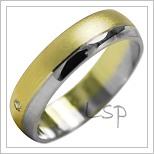 Snubní prsteny LSP 2027k kombinované zlato