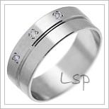 Snubní prsteny LSP 2029 bílé zlato