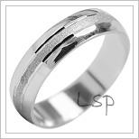 Snubní prsteny LSP 2030b bílé zlato