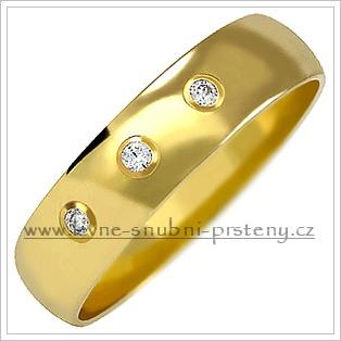 Snubní prsteny LSP 2031 žluté zlato s diamanty