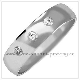 Snubní prsteny LSP 2031b bílé zlato