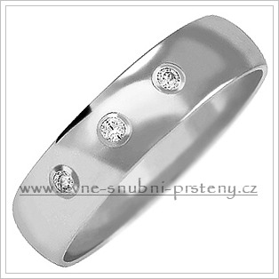 Snubní prsteny LSP 2031bz bílé zlato