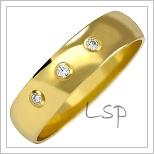 Snubní prsteny LSP 2031z žluté zlato se zirkony