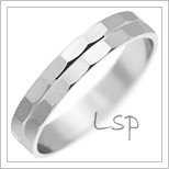 Snubní prsteny LSP 2032 bílé zlato
