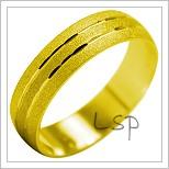 Snubní prsteny LSP 2033 žluté zlato