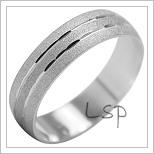 Snubní prsteny LSP 2033b bílé zlato