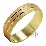 Snubní prsteny LSP 2033k kombinované zlato