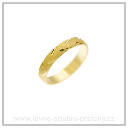 Snubní prsteny LSP 2034 žluté zlato