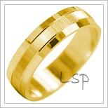 Snubní prsteny LSP 2035 žluté zlato
