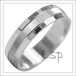 Snubní prsteny LSP 2035b bílé zlato