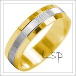 Snubní prsteny LSP 2035k kombinované zlato