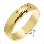 Snubní prsteny LSP 2040 žluté zlato