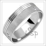 Snubní prsteny LSP 2042b bílé zlato