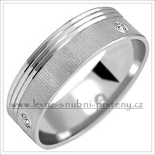 Snubní prsteny LSP 2042bz bílé zlato