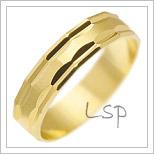 Snubní prsteny LSP 2043 žluté zlato