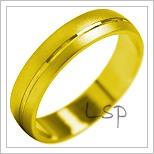 Snubní prsteny LSP 2044 žluté zlato