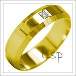 Snubní prsteny LSP 2046 žluté zlato