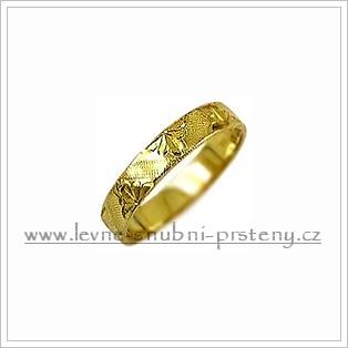 Snubní prsteny LSP 2047 žluté zlato