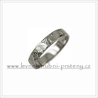 Snubní prsteny LSP 2047b bílé zlato
