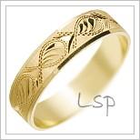 Snubní prsteny LSP 2048 žluté zlato