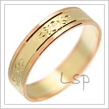 Snubní prsteny LSP 2050 kombinované zlato