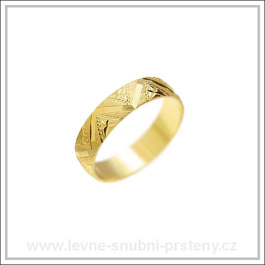 Snubní prsteny LSP 2052 žluté zlato