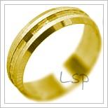 Snubní prsteny LSP 2053 žluté zlato