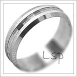 Snubní prsteny LSP 2053b bílé zlato