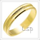 Snubní prsteny LSP 2058 žluté zlato