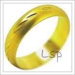 Snubní prsteny LSP 2062 žluté zlato