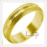 Snubní prsteny LSP 2064 žluté zlato