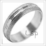 Snubní prsteny LSP 2064b bílé zlato