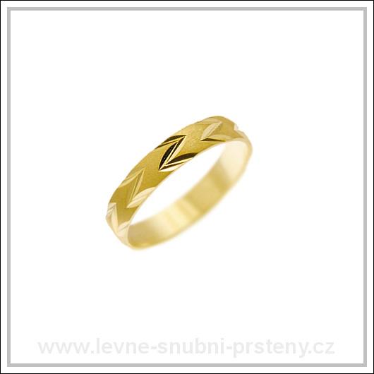 Snubní prsteny LSP 2065 žluté zlato