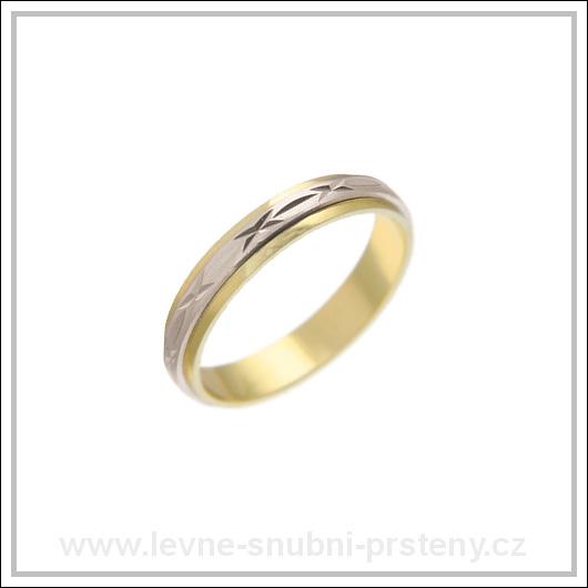 Snubní prsteny LSP 2066 kombinované zlato