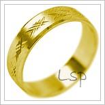 Snubní prsteny LSP 2068 žluté zlato
