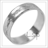 Snubní prsteny LSP 2068b bílé zlato