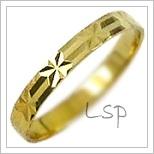 Snubní prsteny LSP 2070 žluté zlato
