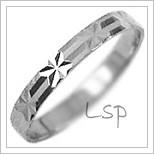 Snubní prsteny LSP 2070b bílé zlato