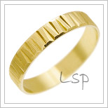 Snubní prsteny LSP 2073 žluté zlato