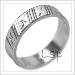 Snubní prsteny LSP 2074b bílé zlato