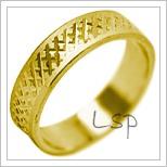 Snubní prsteny LSP 2076 žluté zlato