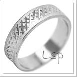 Snubní prsteny LSP 2076b bílé zlato