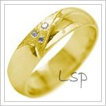 Snubní prsteny LSP 2079 žluté zlato