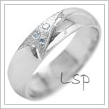 Snubní prsteny LSP 2079b bílé zlato