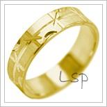 Snubní prsteny LSP 2080 žluté zlato